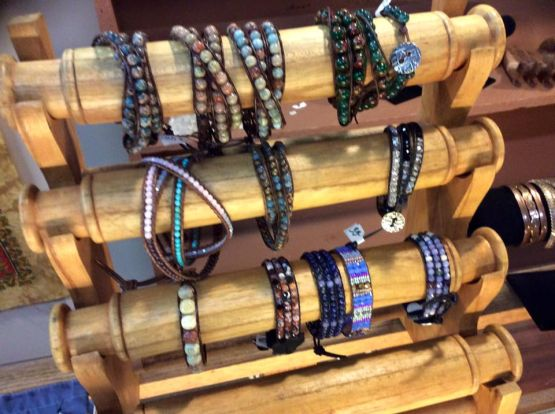 Handmade Beaded leather wrap bracelets