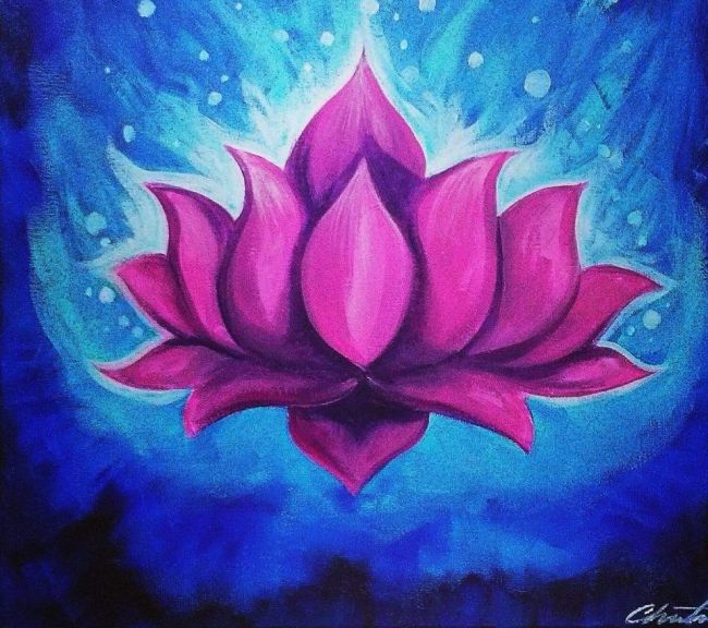 Spiritual Art Paint Night Lotus Flower Mondazzi Book Bead Crystal